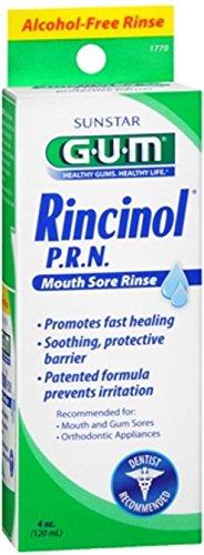 - GUM Rincinol P.R.N. Mouth Sore Rinse 4 oz (Pack of 4)