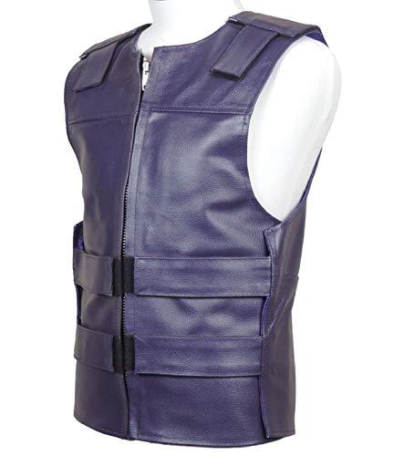 Purple Leather - Bulletproof Style Motorcycle Vest (L)