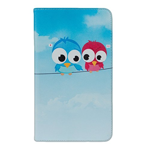 kwmobile® Chic leather for the Huawei MediaPad M1 8.0 in Light blue with convenient stand function and Bird design