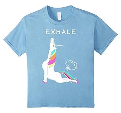 Exhale T shirt / Unicorn With Rainbow Yoga funny Shirt
