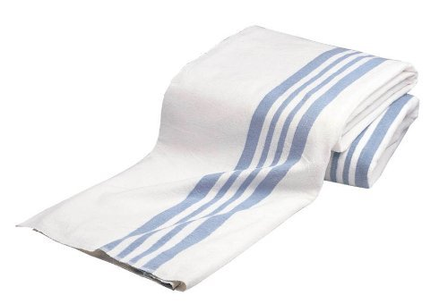 (Olympus Heavy Napping Confort Blankets (White with Blue Stripe) by BH Medwear)