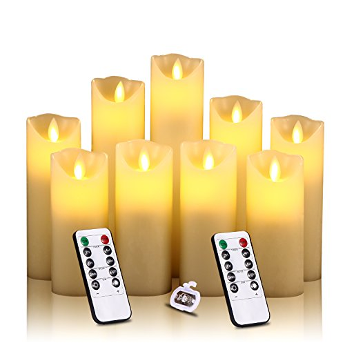 Antizer Flameless Candles Battery Operated Candles Set of 9, 4