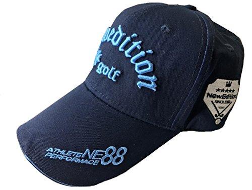 漂流化学者まろやかな【NewEdition GOLF®】ニューエディションゴルフ?3D刺繍アスリート ワッペン コットン綿 キャップ ゴルフ 帽子 フリーサイズ NEG-203,224