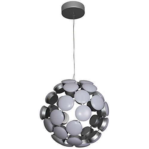 VONN VMC32610AL Modern 16″ Celestial Mutli-Light Led Chandelier, Adjustable Hanging Light, Modern Globe Chandelier Lighting, Kastra Collection, 15.55″ x 15.55″ x 134.25″, Aluminium For Sale