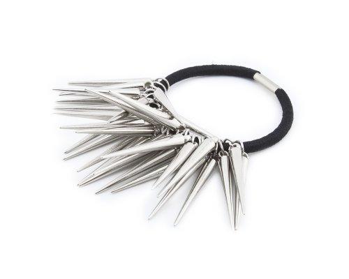 BONAMART Fashion Personality Punk Rock Gothic Rivets Spike Hair Ponytail Band Holder Hairband Headband S