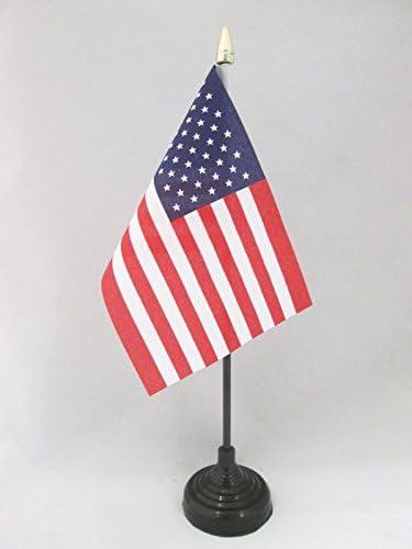 AZ FLAG Bandera de Mesa de los Estados Unidos 15x10cm - BANDERINA de DESPACHO Americana - USA - EE.UU 10 x 15 cm Punta Dorada: Amazon.es: Hogar