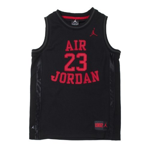 Nike Jordan Boys Youth Classic Mesh Jersey Shirt (Black/Red, XL(13-15YRS))