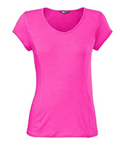 The North Face Womens Skycrest V-Neck Tee Pink X-Small