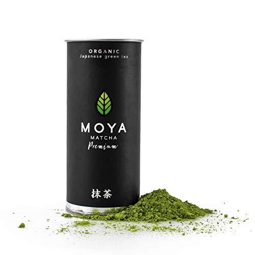 Moya Matcha Te Verde Organico Japones En Polvo | 30g Prima Ceremonial Grado (I) | Cultivado y Cosechado en Uji, Japon | Mas alto Calidad Matcha Disponible