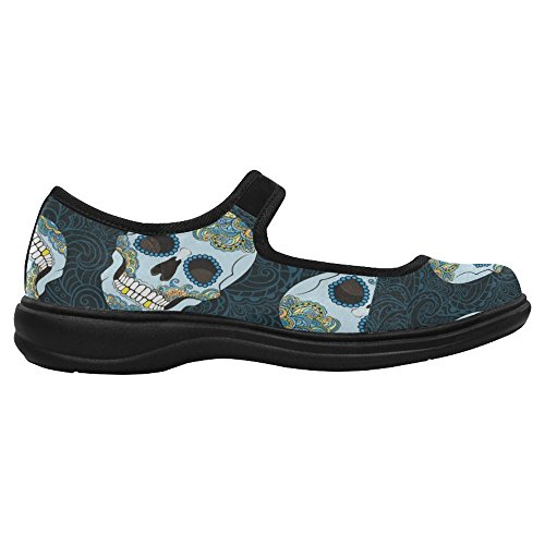 Mary Comfort Walking 3 Flats Jane Casual InterestPrint Women's Shoes Multi vTxqZE