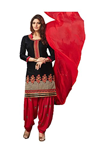 Dessa Collections Indian Women Designer Partywear Ethnic Traditonal Black Anarkali Salwar Kameez by Dessa Collections
