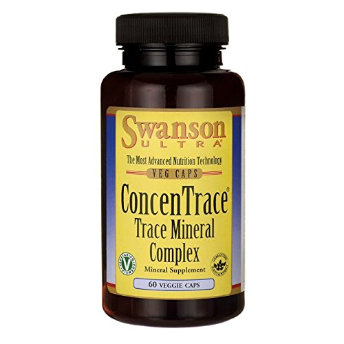 Swanson Concentrace Trace Mineral Complex 60 Veg Capsules