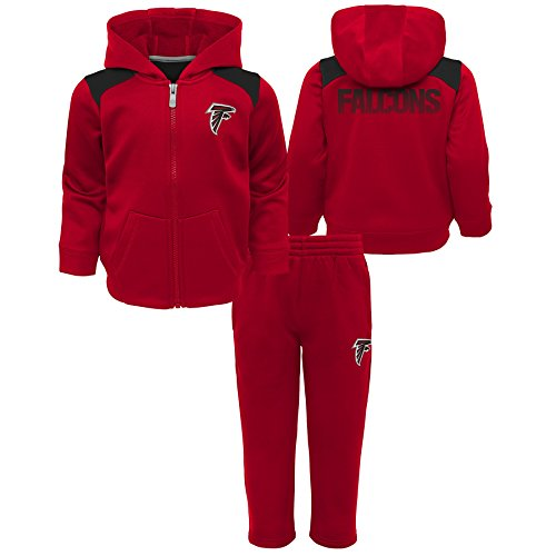 Outerstuff NFL Atlanta Falcons Toddler Play Action Performance Fleece Set, Crimson, 3T