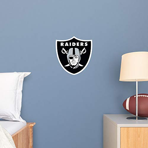 FATHEAD NFL Oakland Raiders - Logo Teammate- Officially Licensed Removable Wall Decal, Multicolor, Large