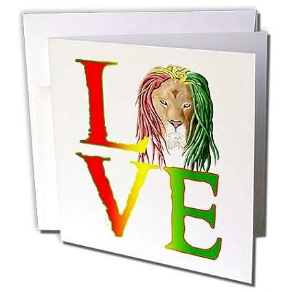 Amazon 3drose macdonald creative studios jamaica a 3drose macdonald creative studios jamaica a rastafarian lion with dreadlocks and the one love m4hsunfo