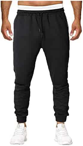 64d29637e4233c Allywit Men's Pants, Athletic Pants Gym Workout Sweatpants Comfortable Slim  Fit Tapered Pants with Pocket