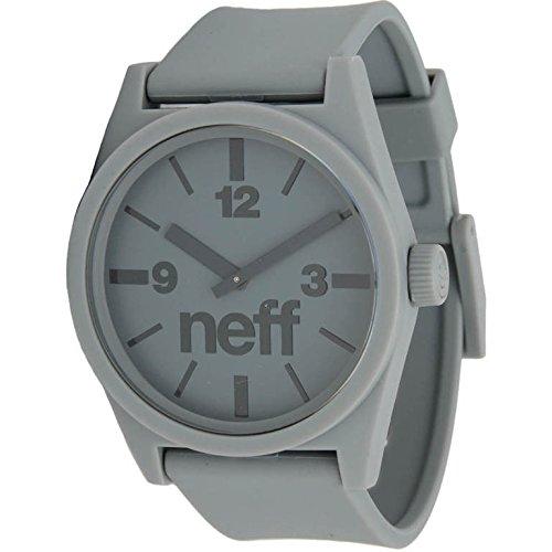 Neff Men's NF0201-grey Custom Designed Neff and PU Strap grey Watch (Watch Neff)