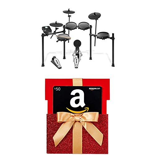 Alesis Drums Nitro Mesh Kit | Eight Piece All-Mesh Electronic Drum Kit With $50 Amazon.com Gift Card