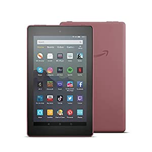 Fire 7 Tablet | 7″ display, 16 GB, Plum with Special Offers