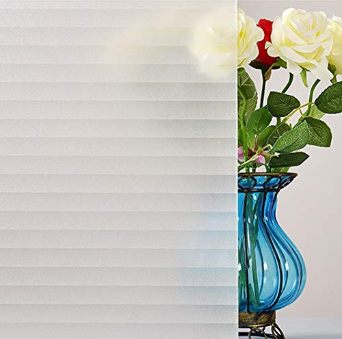 Insulated Vinyl Windows - Bloss Privacy Window Film Office Decorative Window Films For Bathroom Home Glass Film Faux Shades Static Cling Heat Control Anti UV Vinyl Film, 17.7-by-78.7 Inches