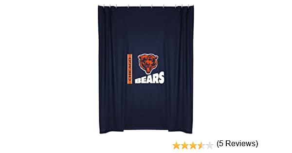 Amazon.com: Sports Coverage Chicago Bears Shower Curtain: Home ...
