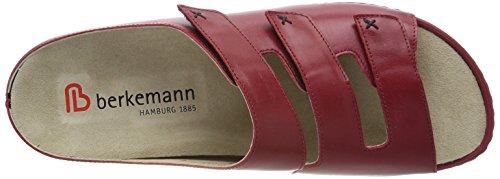 Berkemann Melbourne Franziska 1007 - Zuecos de charol para mujer Rojo (Weinrot)