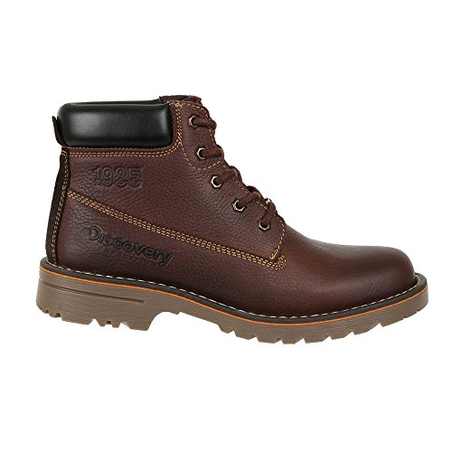 Discovery EXPEDITION Mens Casual Outdoor Leather Lace-Up Boot w/Traction Sole Mocha 8