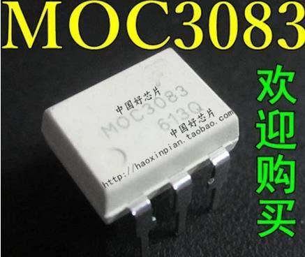 Calvas 10pcs MOC3083 M0C3083 DIP-6 Triac & SCR Output Optocouplers 800VDRM IFT=5mA 6 Pin Optocoupler New original