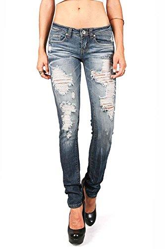 be026e6ded6 best Machine Women s Juniors Low Rise Distressed Machine Skinny Jeans