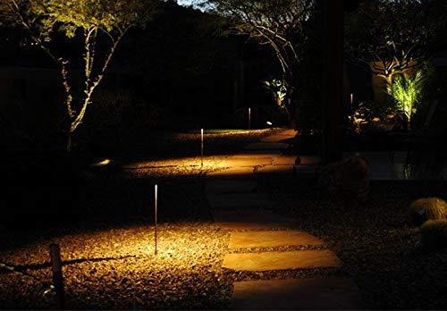 Bobcat Lighting LED Solar Path Light - Super Bright Outdoor Pole Pathway 1.5W Lamp Stake Light- Warm White 3000K, 100 Lumens, Waterproof Landscape Lighting for Patio Yard Deck Path Lawn Backyard- 4 Pk by Bobcat Lighting (Image #5)