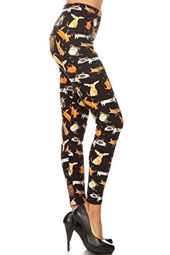 S510-OS Dog Breeds Print Fashion Leggings ()