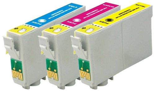 3 Pack Elite Supplies Remanufactured Inkjet Cartridge Replacement for #69 T069, Epson T069220 T069320 T069420 Works With Epson Stylus, WorkForce (1 Cyan, 1 Magenta, 1 Yellow)