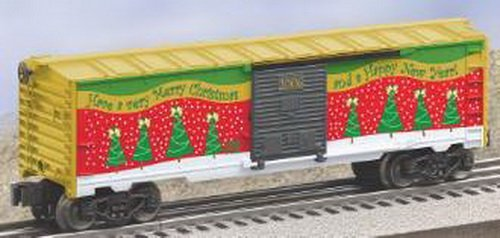 Lionel, 6-25008, 2006 Christmas Box Car, Die-cast Metal Sprung Trucks and Couplers, Stamped Metal Frame