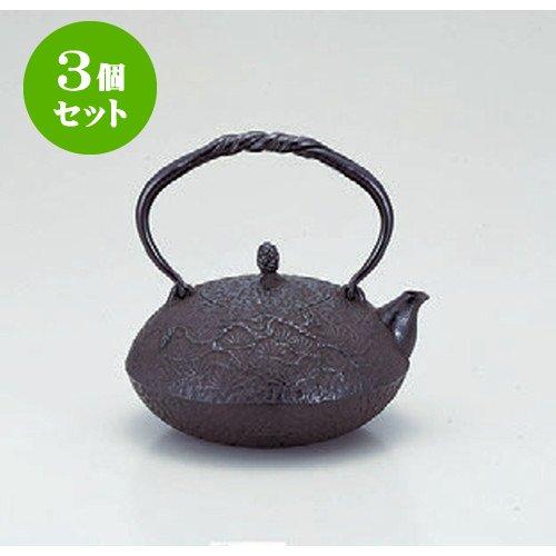 3個セット 茶道具 鉄瓶駒型15号 [2] 鉄 (7-913-27) 料亭 旅館 和食器 飲食店 業務用 B01LYTE8VD