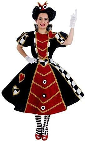 NINES DONIL EXPORT, SL Disfraz de Reina de Corazones Deluxe para ...