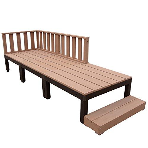 igarden アイガーデン アイウッドデッキPLUS 7点セットナチュラル アイガーデンオリジナル人工木ウッドデッキ、樹脂木、木樹脂、プラウッド、ウッドデッキセット、木製デッキ、縁台 B00ZUYS0HQ