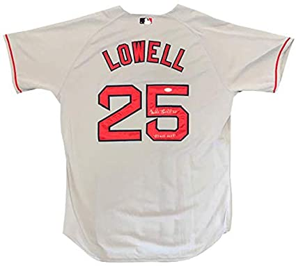 40a0a247825 Image Unavailable. Image not available for. Color  Mike Lowell quot 07 WS  MVP quot  Autographed Authentic Boston Red Sox Grey Jersey ...