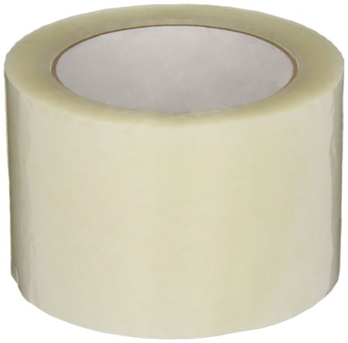Intertape Polymer Group F4039-05 6100 Utility Hot Melt Carton Sealing Tape, 1.6 mil Thick x 100M Length x 72mm Width, Clear, Case of 24 Rolls
