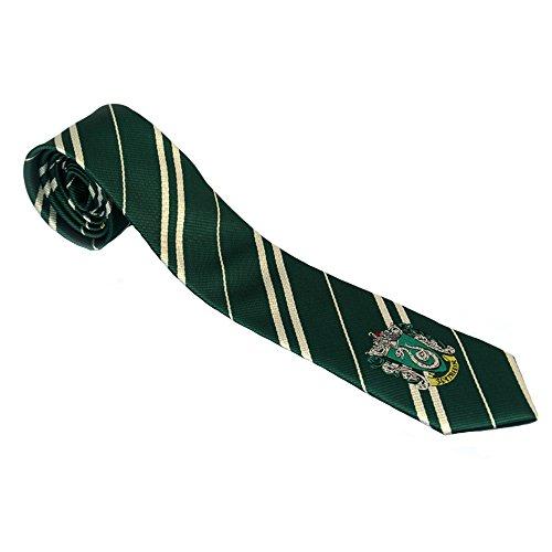 Harry Potter Tie Necktie Halloween Deluxe Cosplay Costume Accessories School Crest Adult Kid Neckwear Slytherin