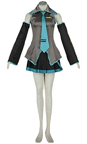 HOLRAN Anime 10pcs Vocaloid Family Hatsune Miku Cosplay Costume Set (XX-Large) -