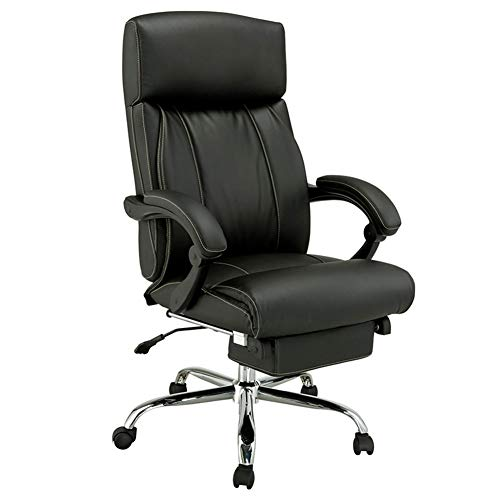 - XUEXUE Leather Boss Chair, Reclining Lazy Ergonomic Chair Office Chair Flat Lay Executive Chair Computer Chair 360 Degree Swivel with Armrest Lever Operator Chairs
