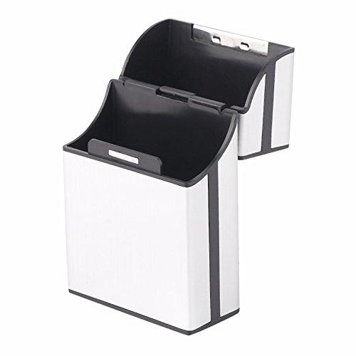 SuperStore 2017 Home Use Light Aluminum Cigar Cigarette Case Tobacco Holder Pocket Box Storage Container color silver