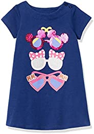 Amazon Brand - Spotted Zebra Girls Disney Star Wars Marvel Frozen Princess Knit Short-Sleeve T-Shirt Dresses