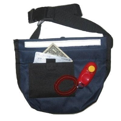 (Downtown Pet Supply Premium Deluxe Dog Pet Training Treat Bait Bag Pouch, with FREE Clicker (MIDNIGHT BLUE))