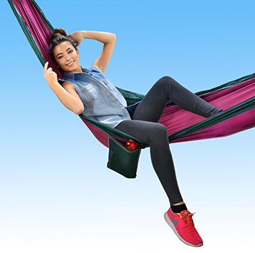 Flexifoil Parachute 100% Nylon Fabric Hammock – Perfect for Outdoor Living, Camping, Backpacking & Travelling