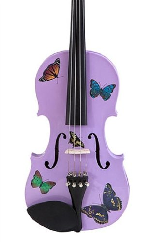 UPC 851401003387, Creative Concept Instruments BSL5034 Rozanna's Butterfly Dream 3/4 Violin Outfit, Lavender