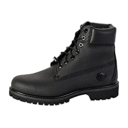 Timberland Ca1gva Men's Icon 6-inch Premium Waterproof Boots, Black Helcor Leather, 11 W Us