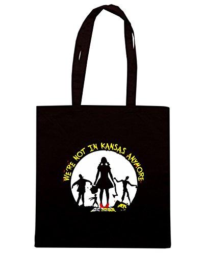 T-Shirtshock - Bolsa para la compra TF0064 inspired by Zombie Negro
