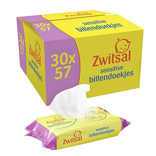 Zwitsal Baby Billendoekjes Sensitive (30 x 57 wipes), voor de gevoelige huid, 1710 doekjes – Voordeelverpakking
