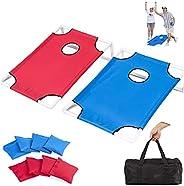 Cornhole Game Portable PVC Frame Cornhole Boards w/Eight Bean Bags